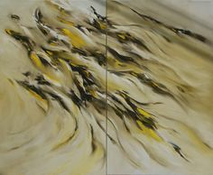 빛으로 바람되어 물로 흐르던 넌 잡을 수 없이  no.11 oil on canvas 162.1 x 194 2014