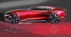 #MG E-Motion GT sketch previews Shanghai bound concept. #cardesignpic #car #conceptcar