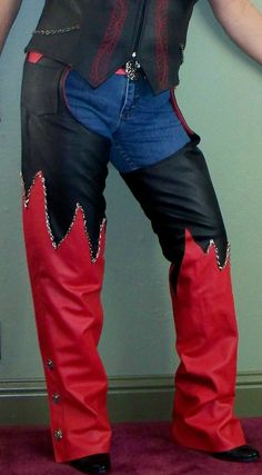 Sexy leather chaps babe accept