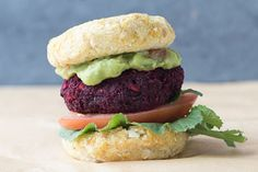 Beet Burger and Cauliflower Bun (gf) (df) (v)