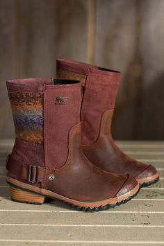 Women's Sorel Slimshortie Waterproof Leather Boots | Overland Sheepskin