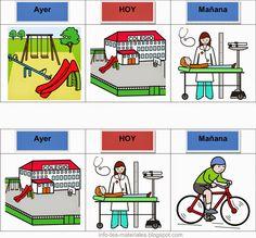 Practicar el concepto de ayer, hoy y mañana - info-tea-materiales