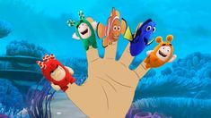 Oddbods toys with Finding Dory Finger Family Song Collection For Kids