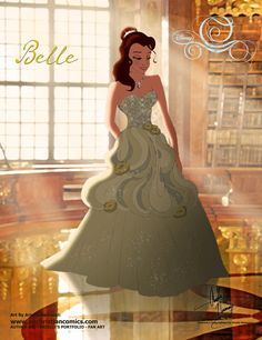 (243) Belle [2015] (Fairy Tale Wedding by AN-ChristianComics @deviantART) #BeautyAndTheBeast