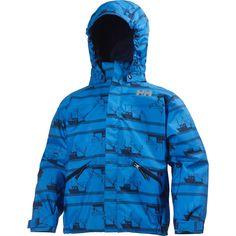 Helly Hansen Toddler Boys' Jotun Printed Rain Jacket, Size: 5, Blue