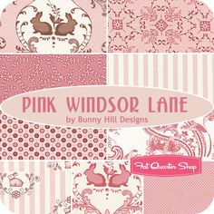 Pink Windsor Lane Junior Jelly Roll Bunny Hill Designs for Moda Fabrics - Fat Quarter Shop