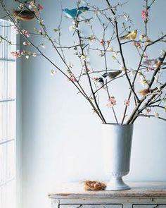 arbre de paques aux oiseaux