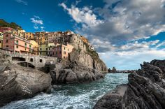 Breath-taking view of Vernazza. it is a town and commune located in the province of La Spezia, Liguria, north-western #Italy .