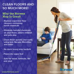Norwex Mop cleans your floors and so much more. For Facebook parties, online events and marketing.