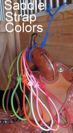 These Saddle Straps are great for shows or your barn.  http://www.customcowboyt...