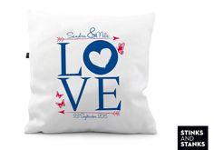 Hochzeitskissen Love maritim KS152 von STINKSANDSTANKS - Individualisierbare Geschenke auf DaWanda.com