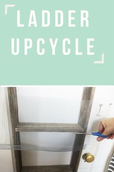 Repurposed Ladder Into a Shelf. Checking my garage for old ladders right now! Old Ladder, Wooden Ladder, Chalk Paint Mason Jars, Diy Pallet Sofa, Diy Blanket Ladder, Picture Frame Decor, Diy Wall Shelves, Shelf, Diy Coffee Table