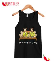Official Breaking Bad Walter And Jesse Friends Tank Top Custom Tank Tops, New Tank, Breaking Bad, Cute Designs, Overalls, Unisex, Friends, Black, Women