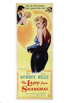 the lady from shanghai MOVIE POSTER orson welles rita hayworth 1947 24X36 new Brand New. 24x36 inches. Will ship in a tube. Reproduction of aged original vintage art print. Great wall decor art print