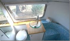 HofArc Airstream Renovation = sweet bathroom- I would travel in a camper if it looked like this!