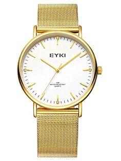 Alienwork Eyki Quarzuhr Armbanduhr elegant Uhr modisch Metall weiss gold YH.EET2006L-03 - http://uhr.haus/alienwork/alienwork-eyki-quarzuhr-armbanduhr-elegant-uhr-3