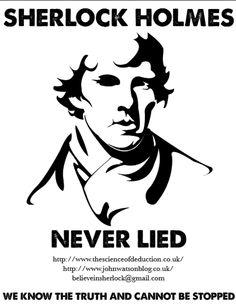 Sherlock Holmes never lied!