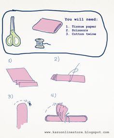 DIY tissue paperpom-poms