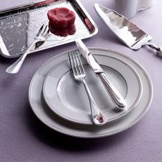 Flatware Perles Christofle silver plated