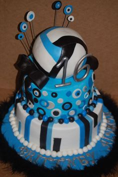 i want a volleyball cake