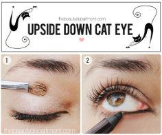 If your eyes are smaller (or you simply don't want to lose any upper lid space), this look is for you! Click twice on the picture to see the full tutorial + final look!