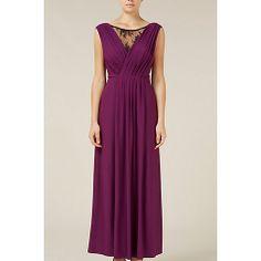 Buy Kaliko Lace Insert Maxi Dress, Purple Online at johnlewis.com