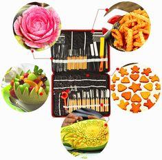 Amazon.com: Artmice-Carving Sets, 80pcs/Set Portable Vegetable Fruit Food Wood Box Peeling Carving Tools Kit Pack/Chef Knives: Kitchen & Dining