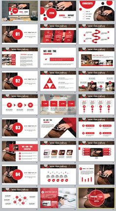 templates Video Features: Redcolor annual report PowerPoint templates Easy and fully editable in PowerPoint (shape color, size, position, etc) Easy customiz Presentation Slides Design, Presentation Layout, Slide Design, Business Presentation, Cookbook Cover Design, Formation Digital, Powerpoint Design Templates, Web Design, Startup