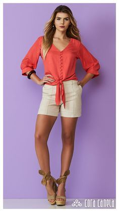 LOOK BOOK 1 – Cora Canela Short Outfits, Chic Outfits, Girl Outfits, Fashion Outfits, Womens Fashion, Beautiful Blouses, Beautiful Outfits, Sexy Dresses, Short Dresses