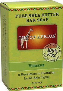 Out Of Africa Organic Shea Butter Bar Soap Verbena -- 4 oz by Out Of Africa. $2.99. Out Of Africa. Out Of Africa Organic Shea Butter Verbena Bar Soap is nature's own miracle moisturizer. Out Of Africa Organic Shea Butter Verbena Bar Soap is nature's own miracle moisturizer. Out Of Africa Organic Shea Butter Verbena Bar Soap is spring fresh, with notes of grass and citrus. All shea butters are not created equal. Out Of Africa Organic Shea Butter Bar Soap is made with 20% ...