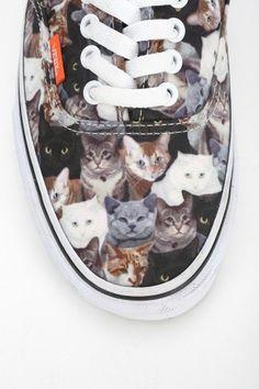 b53349bf58 Vans X ASPCA Authentic Cat Print Women s Low-Top Sneaker On Shoes