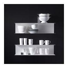 IKEA - BOTKYRKA, Wandregal, weiß, , Praktisch für Dekoratives und alles, was man schnell zur Hand haben will.Für Kochbücher, Sammlerstücke oder dekorative Gegenstände - so kommt persönliches Flair in die Küche.