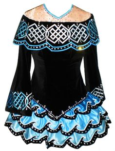 Custom and off-the-rack Irish dance dresses, as well is one of a kind and replica costumes. Dance Outfits, Dance Dresses, Cool Outfits, Irish Step Dancing, Irish Dance, Ciara Dance, Celtic Dress, Dance Costumes, Irish Costumes
