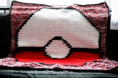 Crochet Pokemon Pokeball Blanket Grid Pattern