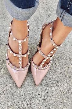 Heel, Iconic rivets studs embellishments,add a touch of subversion to workweek looks, or infuse sensuality into evening ensembles with this investment design. Hot High Heels, High Heel Pumps, Pumps Heels, Stiletto Heels, Cute Heels, Lace Up Heels, Pointed Heels, Studded Heels, Hot Shoes