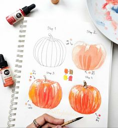 🎃 HALLOWEEN TUTORIAL 🎃 Hopy you enjoy this fun tutorial! 😊Swipe through these photos to get a closer look at the process. Watercolor Painting Techniques, Watercolour Tutorials, Watercolor Drawing, Painting & Drawing, Watercolor Paintings, Watercolors, Prima Watercolor, Watercolor Fruit, Watercolor Ideas