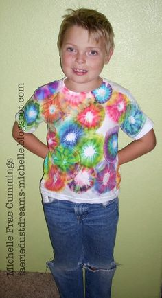 Faerie * Dust * Dreams: How to Tie Dye with Sharpie Markers!