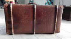 Stara,duża walizka/kufer Echt Vulkan-Fibre antyk