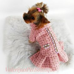 12 Exceptional Dog Clothes With Long Sleeves Dog Clothes Hawaiian Shirt Yorkie Dogs, Pet Dogs, Yorkies, Puppies, Small Dog Clothes, Puppy Clothes Girl, Chihuahua Clothes, Tweed, Designer Dog Clothes
