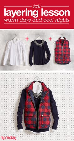 Staying warm and looking stylish is easy with layers that you can add or subtract with fickle fall temperatures. Mixing in lightweight pieces is the secret! A quilted puffer vest is a chilly weather staple and can easily be elevated with a beaded top or a statement necklace. Shop fall layers at tjmaxx.com.