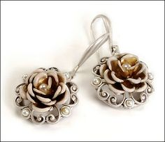 Rockabilly Jewelry & Retro Jewelry Facts, Fashions, & Trends: Sweet Romance Jewelry: Heirloom Roses Earrings