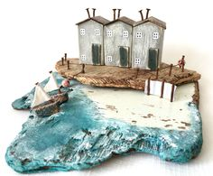 This driftwood piece was perfect for creating a choppy sea scene. Available at www.etsy.com/shop/TildysRoom