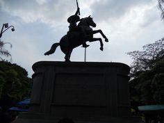Estatua de Emiliano Zapata, localizada en el Zócalo de la cd. de Cuernavaca Morelos