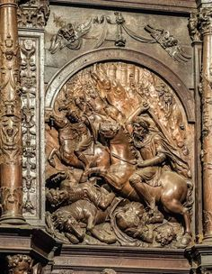 Altarpiece image of Santiago Matamoros, Cáceres Cathedral, Spain - Travel Past 50