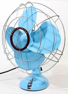 Refurbished Vintage Westinghouse Blue Oscillating Electric Fan. $180.00, via Etsy.