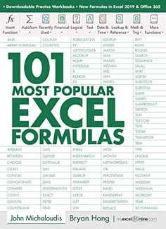 The 101 Most Popular Excel Formulas e-book is finally here! You get easy to understand explanations on what each formula Excel Tips, Excel Hacks, Excel Budget, Budget Spreadsheet, Microsoft Excel Formulas, Microsoft Word, Microsoft Office Free, Microsoft Windows, Vba Excel