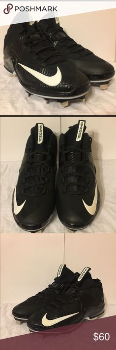 Nike Air Max MVP Elite II Baseball Cleats Sz 9 YOU ARE LOOKING AT A ORIGINAL PAIR OF  New Nike Air Max MVP Elite II-2 3/4 Metal Mens Baseball Cleats Black Sz 9 [684687-010]   CONDITION: BRAND NEW WITHOUT BOX OVERALL CONDITION: 10 / 10  100% AUTHENTIC!  I NEVER SELL FAKES AND NEVER WILL!  WILL BE SENT WITH TRACKING INFORMATION!!  From a smoke free home!   100% AUTHENTIC NIKE PRODUCT LOOK AT ALL MY PICS! I HAVE NOTHING TO HIDE!  Please view all photos, description and details - 100 %…