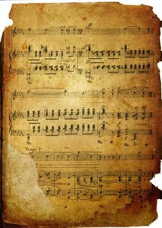 Worn and yellowed old sheet music. Vintage Ephemera, Vintage Paper, Music Page, Collage Background, Vintage Sheet Music, Vintage Lettering, Music Notes, Vintage Images, Nostalgia