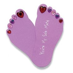 http://familyfun.go.com/crafts/feet-heart-669983/    These will be fun to make with the girls too!!!