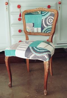 Par de sillas luis xv sillones telas muebles coloridos - Sillas tapizadas vintage ...